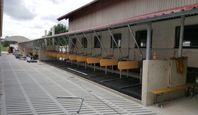 BK Dachliegebox als Wandbox mit Kraiburg Maxi-Box