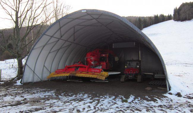 Die Planenhallen können auf jedem Untergrund montiert werden