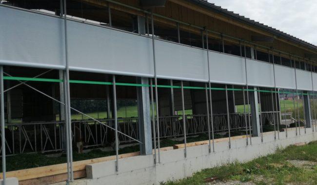 Das Windschutzsystem C ermöglicht die Öffnung von unten und von oben