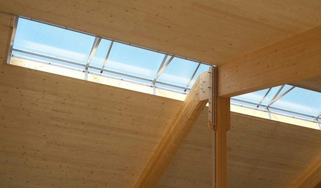 Die Lichtfirste passen für jede Unterkonstruktion