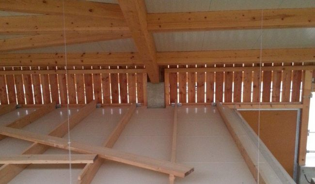 Die Tragkonstruktion kann bauseitig aus Holz gefertigt werden,
