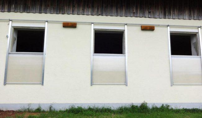 Einzelschiebefenster, zentral gesteuert