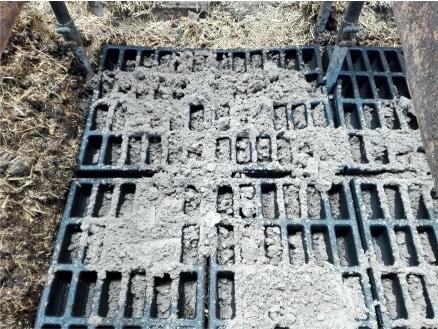 Einpassen der SANDAs und Sandbefüllung